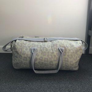 Green Printed Duffel Bag